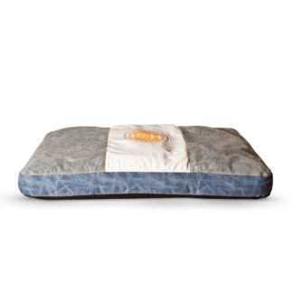 """K&H Pet Products Vintage Classic Pet Bed Genuine Logo Small Brown / Blue 28"""" x 38"""" x 4"""""""
