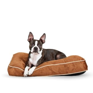 """K&H Pet Products Tufted Pillow Top Pet Bed Small Chocolate 20"""" x 30"""" x 7.5"""""""