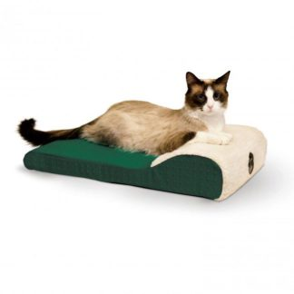 "K&H Pet Products Ultra Memory Chaise Pet Lounger Green 14""  x 22"" x 4"""