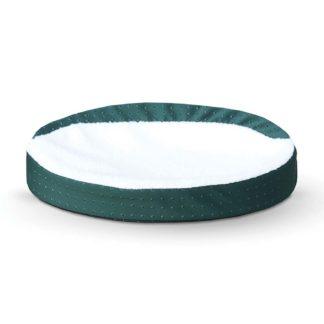 "K&H Pet Products Ultra Memory Foam Oval Pet Cuddle Nest Green 13"" x 19"" x 4"""