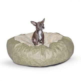 "K&H Pet Products Self Warming Cuddle Ball Pet Bed Small Green 28"" x 28"" x 10"""