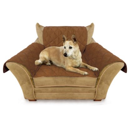 """K&H Pet Products Furniture Cover Chair Mocha 22"""" x 26"""" seat, 42"""" x 47"""" back, 22"""" x 26"""" side arms"""