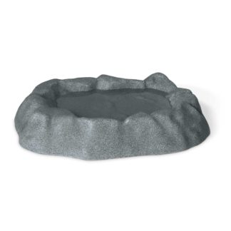 "K&H Pet Products Birdbath Unheated 1 Gallon Gray 17"" x 23.5"" x 4"""