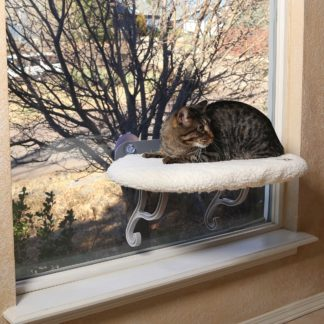 "K&H Pet Products Universal Mount Kitty Sill White 14"" x 24"" x 13"""
