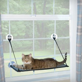 "K&H Pet Products Kitty Sill - EZ Window Mount Gray / Black 12"" x 23"" x 0.5"""
