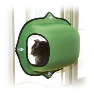 "K&H Pet Products EZ Mount Window Pod Kitty Sill Green 27"" x 20"" x 20"""