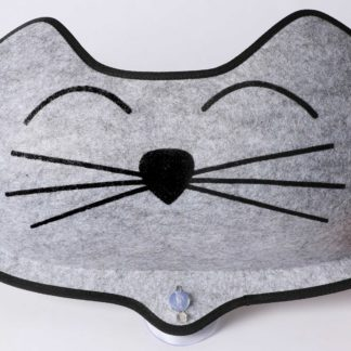 "K&H Pet Products EZ Mount Kittyface Window Bed Gray 27"" x 8"" x 11"""