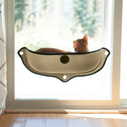 "K&H Pet Products EZ Mount Window Bed Kitty Sill Tan 27"" x 11"" x 10.5"""