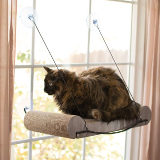 "K&H Pet Products EZ Mount Cat Scratcher Kitty Sill Tan 11"" x 20"" x 2"""
