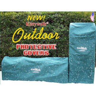 "Kittywalk Outdoor Protective Cover for Kittywalk Curves (2) Green 48"" x 18"" x 24"""