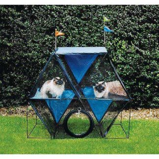 "Kittywalk Ferris Wheel Outdoor Cat Enclosure Green 44"" x 24"" x 40"""