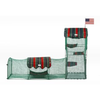 """Kittywalk Town and Country Collection Outdoor Cat Enclosure Green 96"""" x 18"""" x 72"""""""