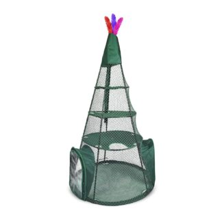 "Kittywalk Teepee  Outdoor Cat Enclosure Green 48"" x 48"" x 72"""