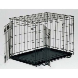 "Midwest Life Stages Double Door Dog Crate Black 48"" x 30"" x 33"""
