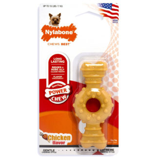 "Nylabone Dura Chew Textured Ring Bone Dog Chew Chicken Extra Small 4"" x 2"" x 0.5"""
