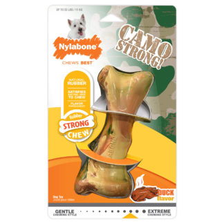 Nylabone Strong Chew Rubber Camo Bone Duck Flavor Regular