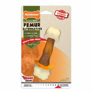 Nylabone Power Chew Femur Alternative Dog Chew Toy Beef Medium