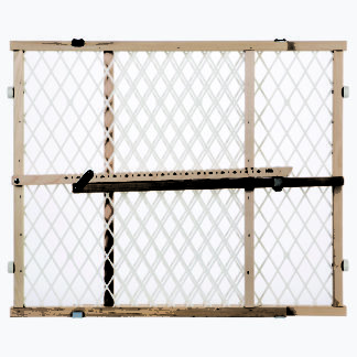 "North States Easy Adjust - Diamond Mesh Pet Gate White, Wood 26.5"" - 42"" x 23"""