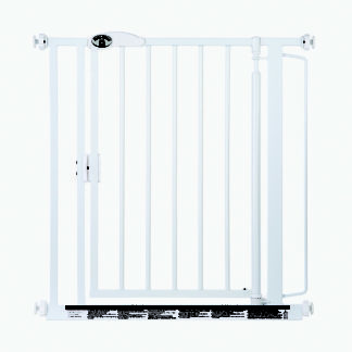 "North States Auto-Close Wall Mounted Pet Gate White 29.5"" - 39.00"" x 30"""