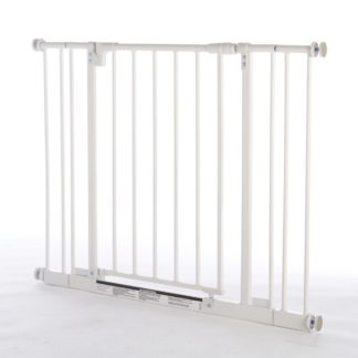 "North States Easy-Close Pressure Mounted Pet Gate Medium White 28"" - 38.5"" x 29"""