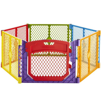 "North States Superyard Colorplay Ultimate Freestanding 6 Panel Playpen Multi-Color 30"" x 26"""
