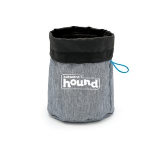 "Outward Hound Dog Treat N Ball Bag Gray 7"" x 6"" x 1"""