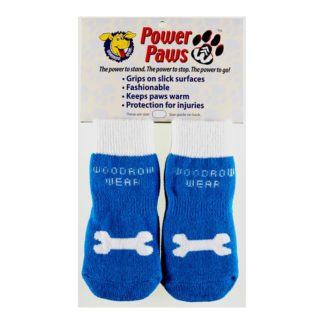 "Woodrow Wear Power Paws Advanced Large Blue / White Bone 2.38"" - 2.75"" x 2.38"" - 2.75"""