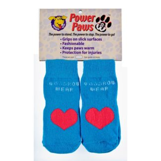 "Woodrow Wear Power Paws Advanced Extra Extra Large Blue / Red Heart 3.125"" - 3.5"" x 3.125"" - 3.5"""