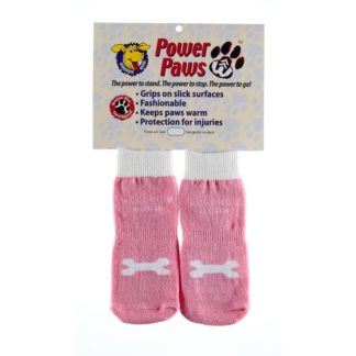 "Woodrow Wear Power Paws Advanced Large Pink / White Bone 2.38"" - 2.75"" x 2.38"" - 2.75"""