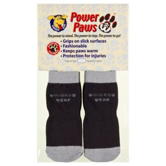 "Woodrow Wear Power Paws Advanced Extra Extra Small Black / Grey 1.25"" - 1.38"" x 1.25"" - 1.38"""