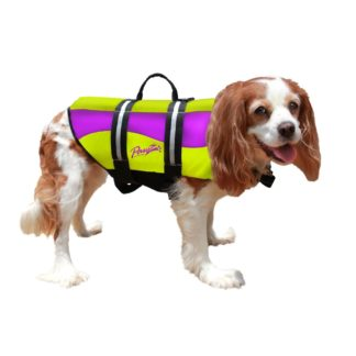 Pawz Pet Products Neoprene Dog Life Jacket Medium Yellow / Purple