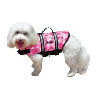 Pawz Pet Products Nylon Dog Life Jacket Extra Small Pink Bubbles