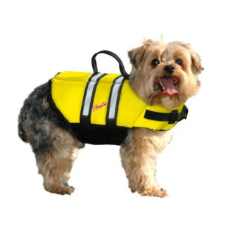 Pawz Pet Products Nylon Dog Life Jacket Medium Yellow