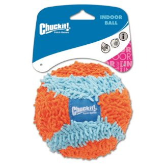 "Petmate Chuckit Indoor Ball Dog Toy Medium Orange/Blue 4.6"" x 5"" x 8.25"""