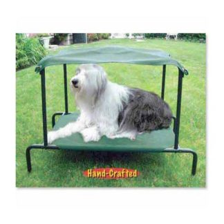 "Puppywalk Breezy Bed Outdoor Dog Bed Green 42"" x 30"" x 32"""