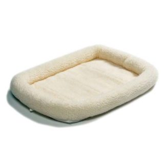 "Midwest Quiet Time Fleece Dog Crate Bed White 54"" x 35"""
