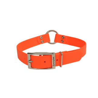 "Remington Waterproof Hound Dog Collar with Center Ring Orange 20"" x 1"" x 0.2"""