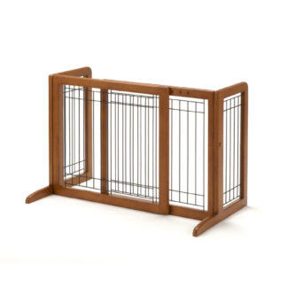 "Richell Freestanding Pet Gate Small Autumn Matte 26.4"" - 40.2"" x 17.7"" x 20.1"""