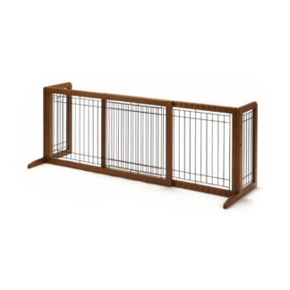"Richell Freestanding Pet Gate Large Autumn Matte 39.8"" - 71.3"" x 17.7"" x 20.1"""
