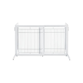 "Richell Freestanding Pet Gate HL White 28.3"" - 47.2"" x 23.6"" x 27.6"""