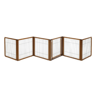 "Richell Convertible Elite Pet Gate 6-Panel Autumn Matte 130"" - 134"" x 31.7"" - 33.7"" x 31.5"""