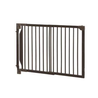 "Richell Expandable Walk-Thru Pet Gate Bamboo 31.5"" - 47.2"" x 2"" x 32.3"""