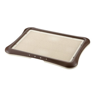 "Richell Paw Trax Mesh Training Tray Brown 25.2"" x 18.9"" x 1.6"""