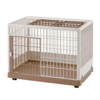 "Richell Pet Training Kennel PK-830 White / Mocha 32.5"" x 21.7"" x 24.6"""