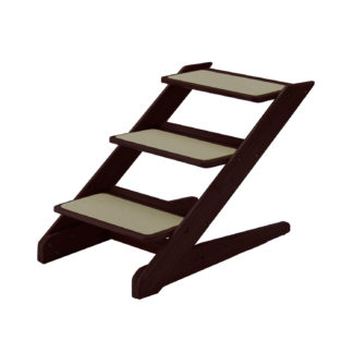 "Richell 3-Step Pet Stool V1 Brown 15"" x 26.4"" x 18.3"""