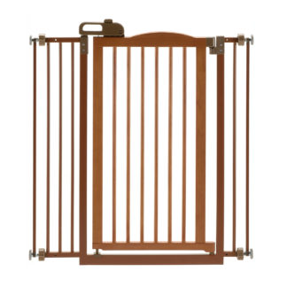 "Richell Tall One-Touch Pressure Mounted Pet Gate II Autumn Matte 32.1"" - 36.4"" x 2"" x 38.4"""