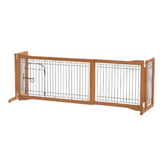 "Richell Pet Sitter Freestanding Pet Gate Plus Autumn Matte 38.2""-59.8"" x 18.5"" x 20.9"""