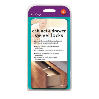 Kidco Swivel Cabinet and Drawer Locks 12 pack White