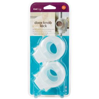 Kidco Door Knob Lock 2 pack Clear