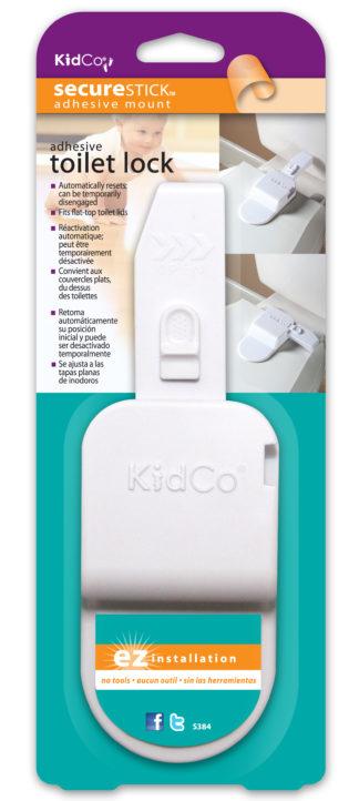 Kidco Adhesive Toilet Lock White